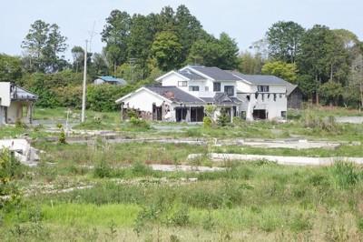 南相馬市小高区 海岸近くの高台の住宅地