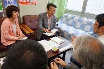 真島省三衆院議員といせだ良子参院比例予定候補が「きょうされん福岡支部」で懇談