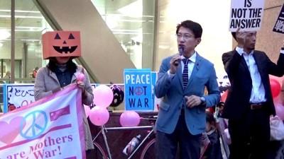 天神ジャック「戦争法絶対反対」「野党は共闘を」