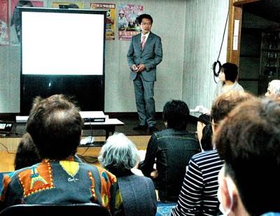 田村貴昭衆院議員、来夏の参院選に勝利し、国民連合政府の実現をと訴え