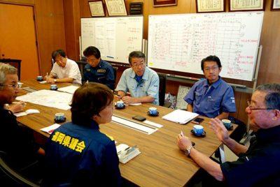 岩下繁隆会長、朝倉商工会議所の窪山龍輔事務局長らと会談
