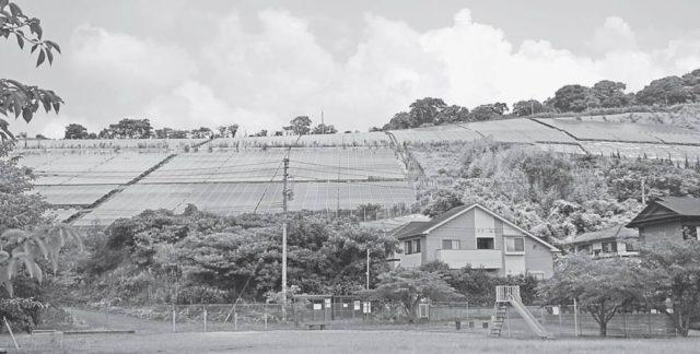すでに太陽光パネルが敷設されたけやき台地区