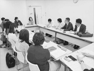 福岡医療団関連の介護事業所での懇談会