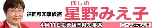 福岡県知事候補 星野みえ子
